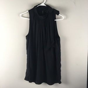 NWT Ann Taylor Black Bow Toe Neck Tank - E
